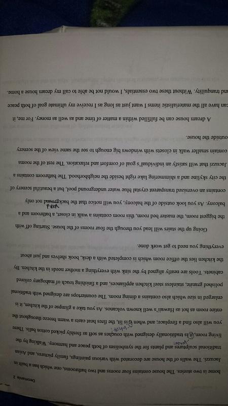 my beautiful house essay